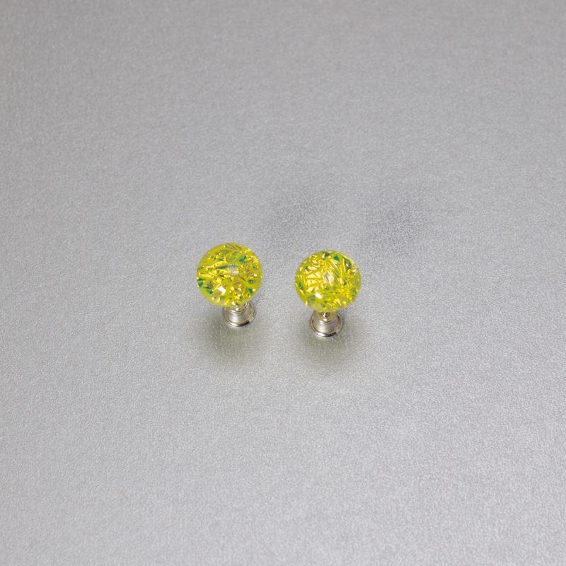 Kollased klaasist kõrvarõngad
