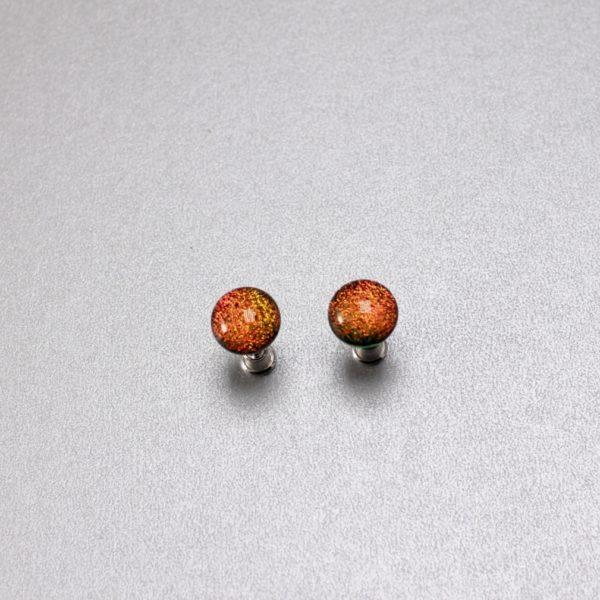 Oranžid kõrvarõngad klaasist